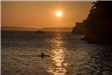 Larrabee beach sunset with kayaker