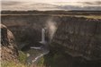 Palouse Falls waterfall with river