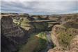Palouse Falls wide vista with river