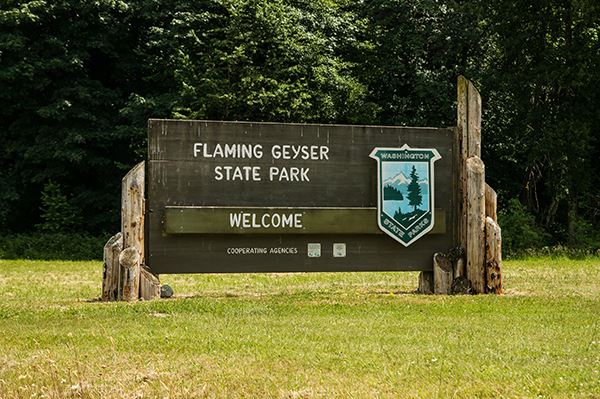 Flaming Geyser sign