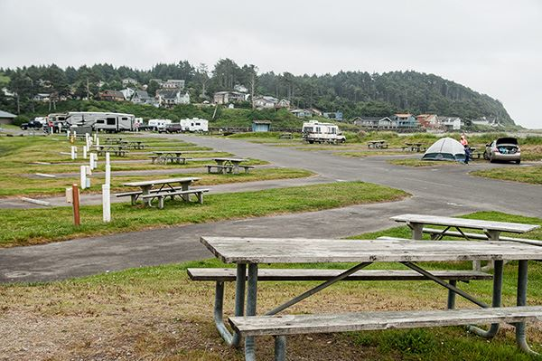 Pacific Beach campground view