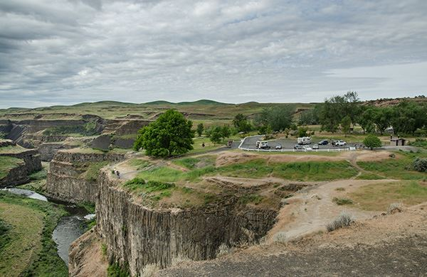 Palouse Falls visitor overlook and parking