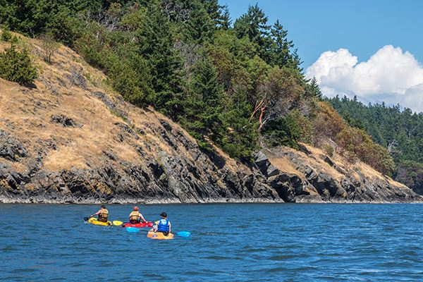 Skagit Island kayakers