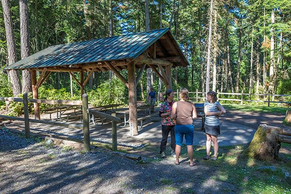 Spencer Spit picnic shelter