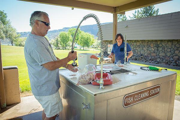 Steamboat Rock fish cleaning station