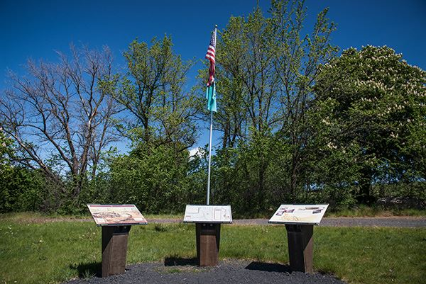 Steptoe Battlefield interpretive panels