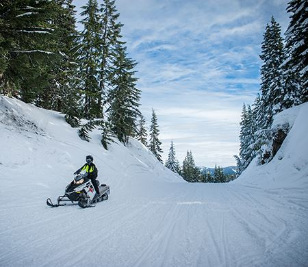 Crystal Springs Sno-Park snowmobiling