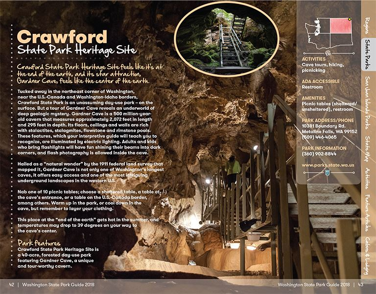 Washington State Parks Guide - Crawford Cave