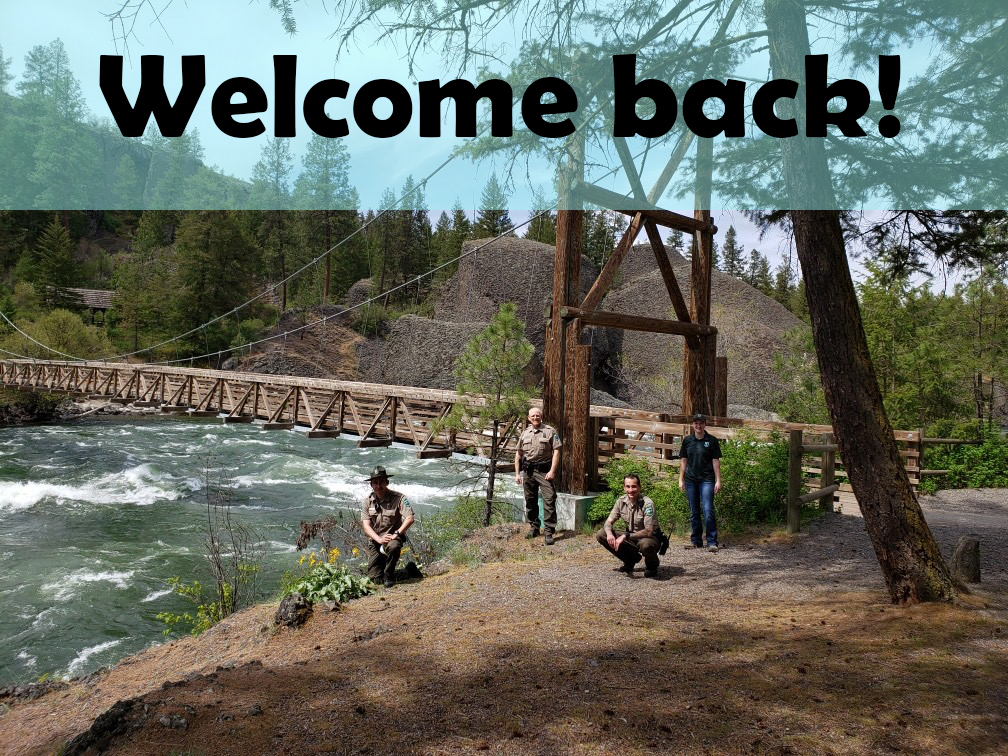 Parks reopening welcome back - staff at Riverside