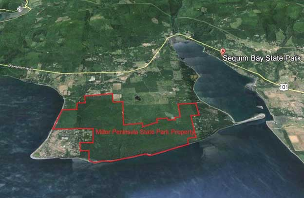 Location Map of Miller Peninsula Property