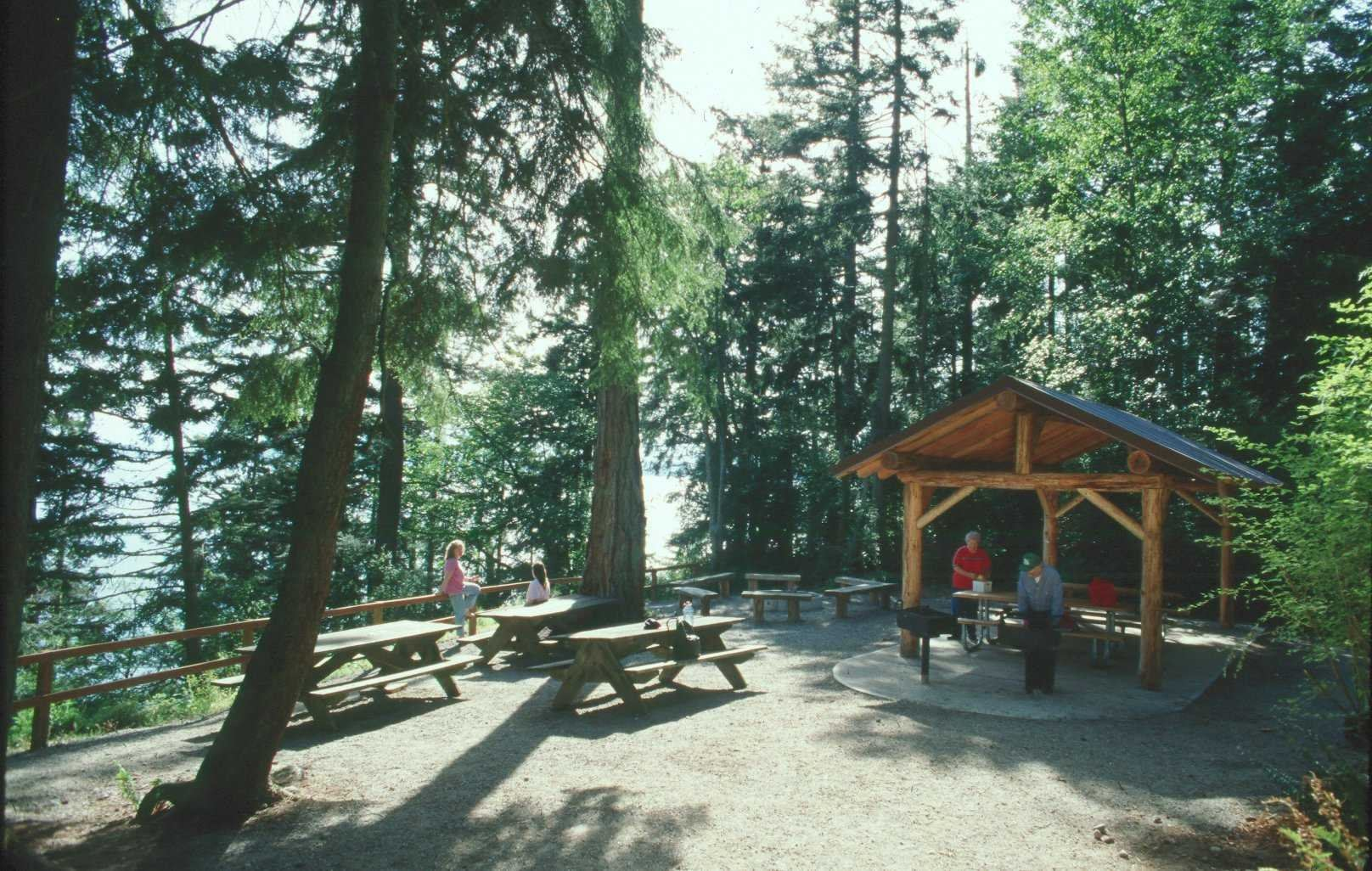 South Whidbey Picnic Area looking toward water