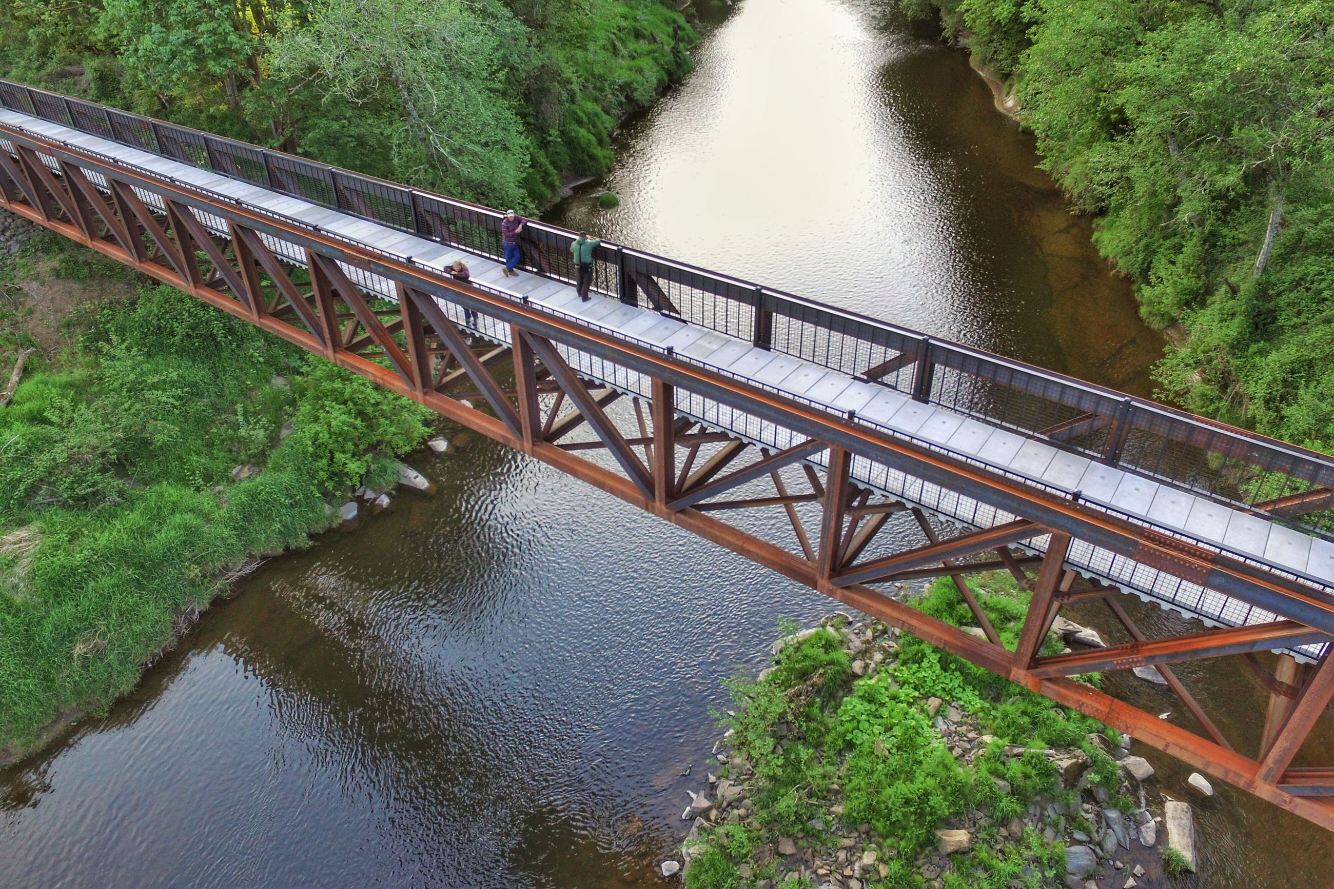 Willapa Hills Trail - doty trestle brewer