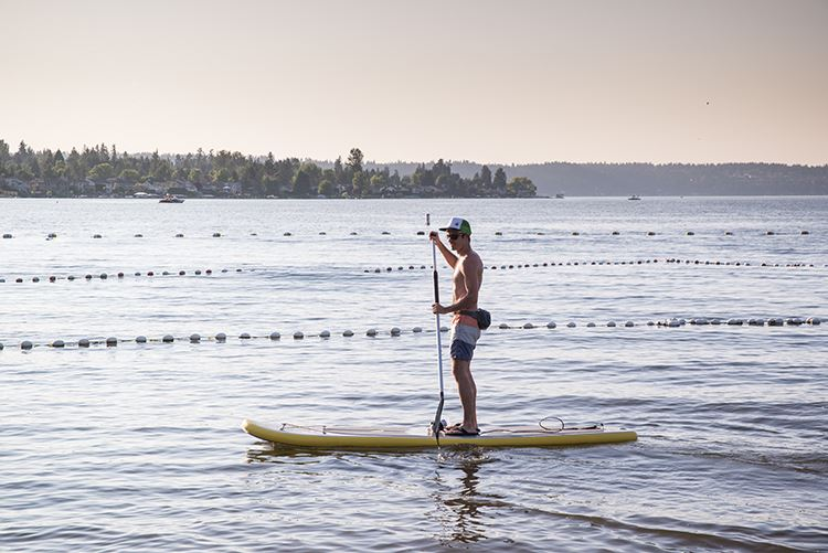Lake Sammamish paddleboard
