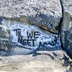 graffiti on rocks at Larrabee State Park