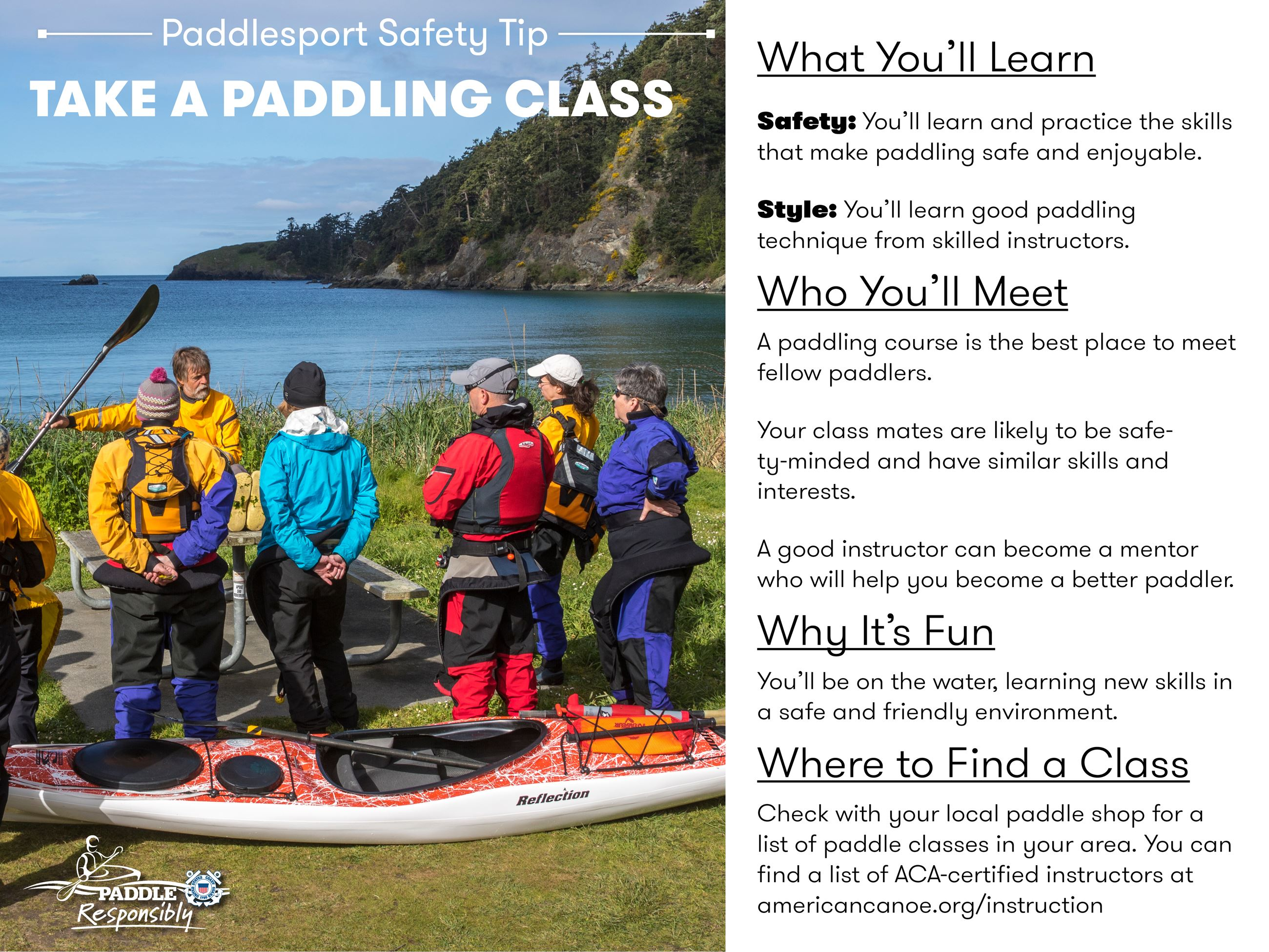 Paddlesports Safety Tip: Take a Class