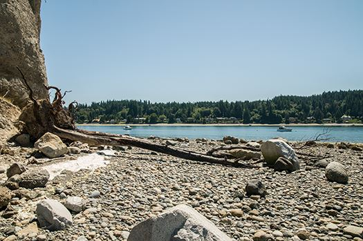 Cutts island beach view