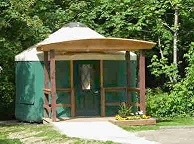 Exterior of Paradise Point Yurt