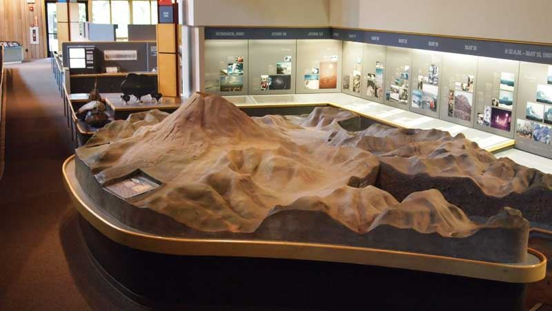 Exhibit at Mount St. Helens Visitor Center